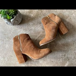 Steve Madden brown leather ankle boots size 41